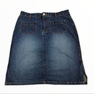 Old Navy retro 2002 blue denim mini skirt size 10